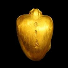 รูปหล่อหลวงพ่อเปิ่น รุ่นแซยิด 76ปี เนื้อทองคำ เบอร์ 1
