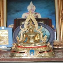 พระพุทธชินราช รุ่นพระมาลาเบี่ยง กะไหล่ทอง ๕.๙ นิ้ว