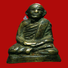 พระรูปหล่อ หลวงพ่อเอียดดำ วัดในเขียว ( หลาไพล )