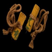 ผ้ายันต์ฟ้าประทานพร กาเล็กหางยาว แบบมัด (มัดดารา)
