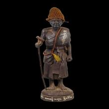 พระบูชา หลวงปู่หมุน ไตรมาส รวยทันใจ เนื้อเหล็กน้ำพี้ 12นิ้ว