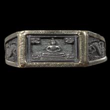 แหวนพระพุทธหน้าใหญ่ เนื้อเงิน ปี2525 ลป.ดู่ วัดสะแก