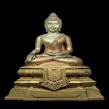 พระบูชาหลวงเพชร วัดแจ้งปราจีน เนื้อสามกษัตริย์ ปี2539