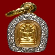 ปรกใบมะขาม ทองคำ หลวงปู่ดุลย์ อตฺโล วัดบูรพาราม 1 ใน 26 องค์
