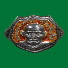 หลวงปู่ทวด แหวนเนื้อเงินลงยาปี06 สภาพสวยแชมป์
