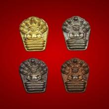 พระนาคปรกใบมะขาม ชุดทองคำ ลป.ม่น รุ่นเมตตาปี37