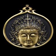 พระโพธิสัตว์ 58 ปี a.p. เนื้อทองเหลือง หลังดำ อ.เฉลิมชัย