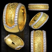 แหวนทองคำ หลวงปู่เพิ่ม วัดป้อมแก้ว เลี่ยมทองฝังเพชร