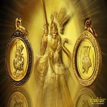 เหรียญเม็ดแตงท่านปรมมาจารย์เตียวฮู้เทียนซือ เนื้อทองคำ
