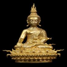 กริ่งพระพุทธประทานยศบารมี เนื้อทองคำ พิมพ์เล็ก อ.เฉลิมชัย