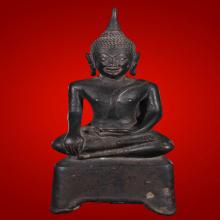 พระบูชา3ขา ศิลปะอยุธยา ปางมารวิชัย เนื้อสำริด