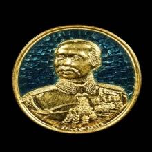 เหรียญร5ลงยาราชาวดีวัดกลางบางแก้วพิมพ์ใหญ่ปี2535เนื้อทองคำ