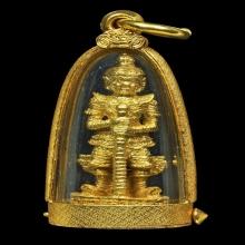 ท้าวเวสรุ่นแรก ทองคำ เข่าตรง หลวงพ่ออิฏฐ์ วัดจุฬามณี ปี2532