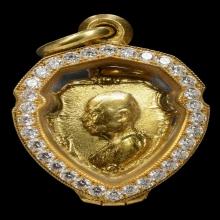 เหรียญหน้าวัวหลวงพ่อเงินวัดดอนยายหอม รุ่นแรกปี2503เนื้อทองคำ