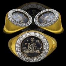 แหวนลงถม รุ่นแรก ยันต์ ''นะโมพุทธายะ'' ปี ๒๔๙๘