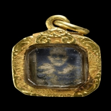 เหรียญเงินลงถม ลพ.จาก วัดบางกะเบา จ.ปราจีนบุรี
