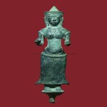 พระอุมาเทวี สมัยลพบุรี เนื้อสำริด สูง 5 นิ้ว ไม่มีอุดไม่มีซ่
