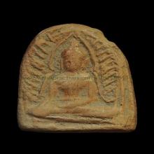 หลวงพ่อคำ วัดหน่อพุทธางกูล พิมพ์พระพุทธชินราช เนื่อดิน ยุคแร