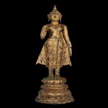 พระบูชาสมัยอยุธยา สูง 19.5 นิ้ว รักทองเดิม