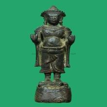 พระพุทธรูปสมัยลพบุรี สูง 3.5 นิ้ว สมบรูณ์(เป็นพระพุทธเจ้านะค
