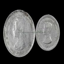 เหรียญ ร.5 เนื้อเงิน 2เหรียญ