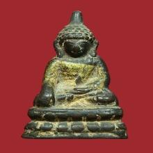 พระพุทธรูป ศิลปะแบบจีน(หนองแส) 3 ซ.ม. เนื้อสำริด