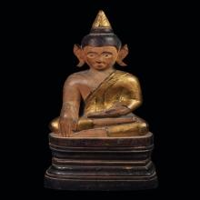 พระพุทธรูป ศิลปะล้านนา ไม้แกะเก่า