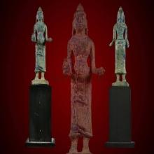 เทวรูปพระแม่อุมาศิลปแบบพลบุรี สูง 8 ซ.ม. สมบรูณ์ ไม่มีอุดไม่
