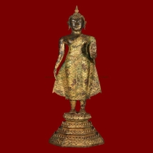 พระบูชาสมัยรัตนโกสินทร์ สูง 21 นิ้ว ยุคแรกทองดิม