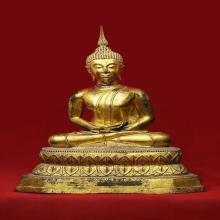 พระบูชาสมัยรัตนะ ปางสมาธิ จีวรเรียบ หน้าตัก10 นิ้ว