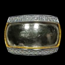 แหวนปลอกมีด รุ่นซื้อที่ดิน หลวงปู่ดู่ วัดสะแก เลี่ยมเพชร
