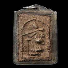 พระสีวลีเนื้อผงผสมว่านยาเม็ดผักกาด หลวงพ่อจับ วัดท่าลิพง พ.ศ