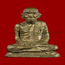รูปหล่อโบราณหลวงปู่เผือกวัดโมลีปีพ.ศ.2500พิมพ์หน้าหนุ่มหายาก