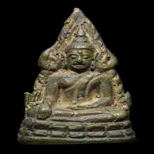 พระพุทธชินราช อินโดจีน พิมพ์สังฆาฏิ สั้น หน้าเสาร์ห้า  สวยๆ