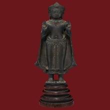 พระพุทธรูปสมัยลพบุรี สูง 8 นิ้ว สมบรูณ์