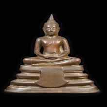 พระบูชา ลพ.โสธร ปี 2497 ขนาดหน้าตัก 5 นิ้ว เนื้อทองเหลือง