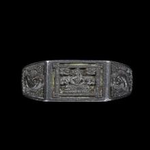 แหวนพระพุทธหน้าเล็ก เนื้อเงิน ปี 2532 หลวงปู่ดู่ วัดสะแก