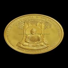 เหรียญพระพุทธเจ้า ออกที่ประเทศภูฏาน เนื้อทองคำ(10g)