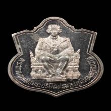 เหรียญในหลวงนนั่งบัลลังก์ เนื้อเงิน สร้าง ปี 2539 สวยมาก No1