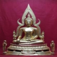 พระพุทธชินราช วัดนางพญา no.3 ขนาด9นิ้ว ปี2514