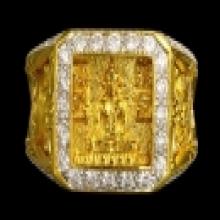 แหวนทองคำ หลวงพ่อรวย วัดตะโก เลี่ยมทองฝังเพชร เบอร์ 1