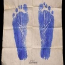 รอยเท้าหลวงพ่อเดิม วัดหนองโพธิ์