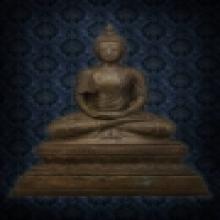 พระพุทธรูปสมัยรัชกาล(ร.๕) ครองจีวรแบบธิเบต  หน้าตัก 10.5 นิ้