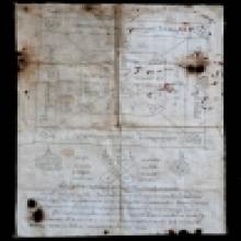 ผ้ายันต์พัดโบก(บล๊อค1) สีขาว รุ่นแรก ปี17 หลวงปู่ทิม