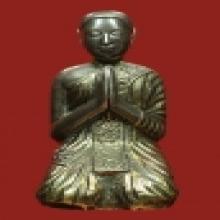 พระบูชาสมัยรัตนโกสินทร์ เนื้อเงิน กะไหล่ทอง ตาฝังเพชรซีก(เพช