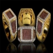 แหวนหน้าพระพุทธ 2522 โลหะผสม เลี่ยมทองฝังเพชร
