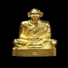 รูปหล่อทองคำหัวหลิมหลวงพ่อทองพูล วัดสามัคคีอุปถัมภ์