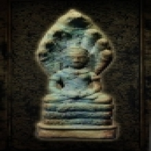 พระพุทธรูปปางนาคปรก สมัยลพบุรี อายุการสร้างพันกว่าปี เนื้อสั