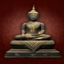 พระบูชาสมัยกรุงธนบุรี เนื้อสัมฤทธิ์ หน้าตัก 10.5 นิ้ว ศิลปะส