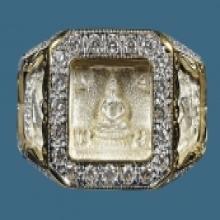 แหวน หน้าพระพุทธ ปี2527 หลวงปู่ดู่ เลี่ยมเพชร สไตล์อู่ข้าว